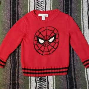 Knitted spider man sweater for toddler boy